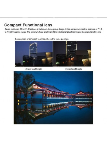 7artisans 25mm f/1.8 Lens for Fujifilm X (Silver)