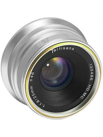 7artisans 25mm f/1.8 Lens for M43 Panasonic Olympus (Silver)