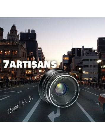 7artisans 25mm f/1.8 Lens for M43 Panasonic Olympus (Black)