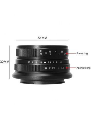 7artisans 25mm f/1.8 Lens for Sony E Mount (Black)