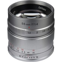7artisans 55mm f/1.4 Lens for Sony E (Silver)