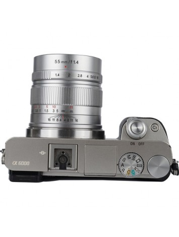 7artisans 55mm f/1.4 Lens for Sony E (Silver)