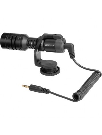 Saramonic Vmic Mini Ultra-Compact Camera-Mount Shotgun Microphone for DSLR Cameras and Smartphones