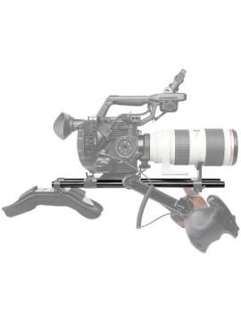 SmallRig 2pcs 15mm Black Aluminum Alloy Rod(M12-40cm) 16inch 1054